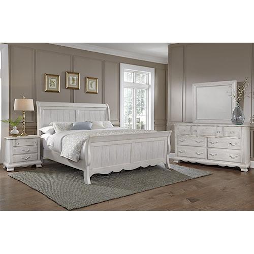 Vaughan Bassett Villa Sophia Queen Bedroom Group Wayside Furniture Bedroo