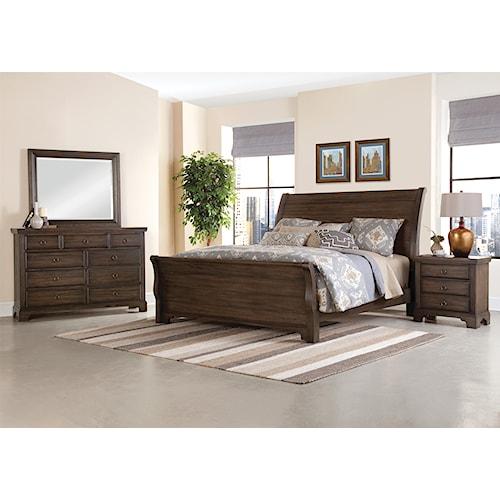Home Bedroom Group Vaughan Bassett Whiskey Barrel King Bedroom Group