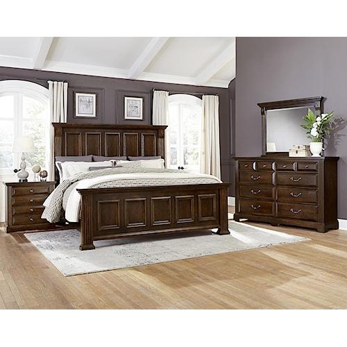 Vaughan bassett woodlands queen bedroom group dunk - Bright house bedroom furniture ...