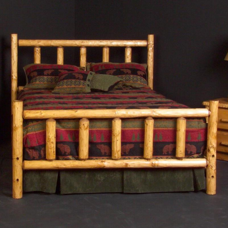 Log Furniture Queen Alpine Log Bed Becker Furniture
