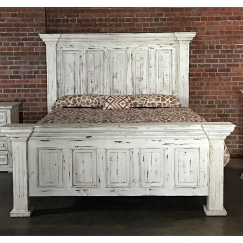Vintage chalet king nero white bed great american home for American furniture warehouse king mattress