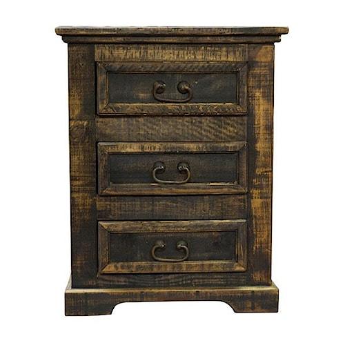Vintage oasis 3 drawer nightstand ivan smith furniture for Ivan smith furniture