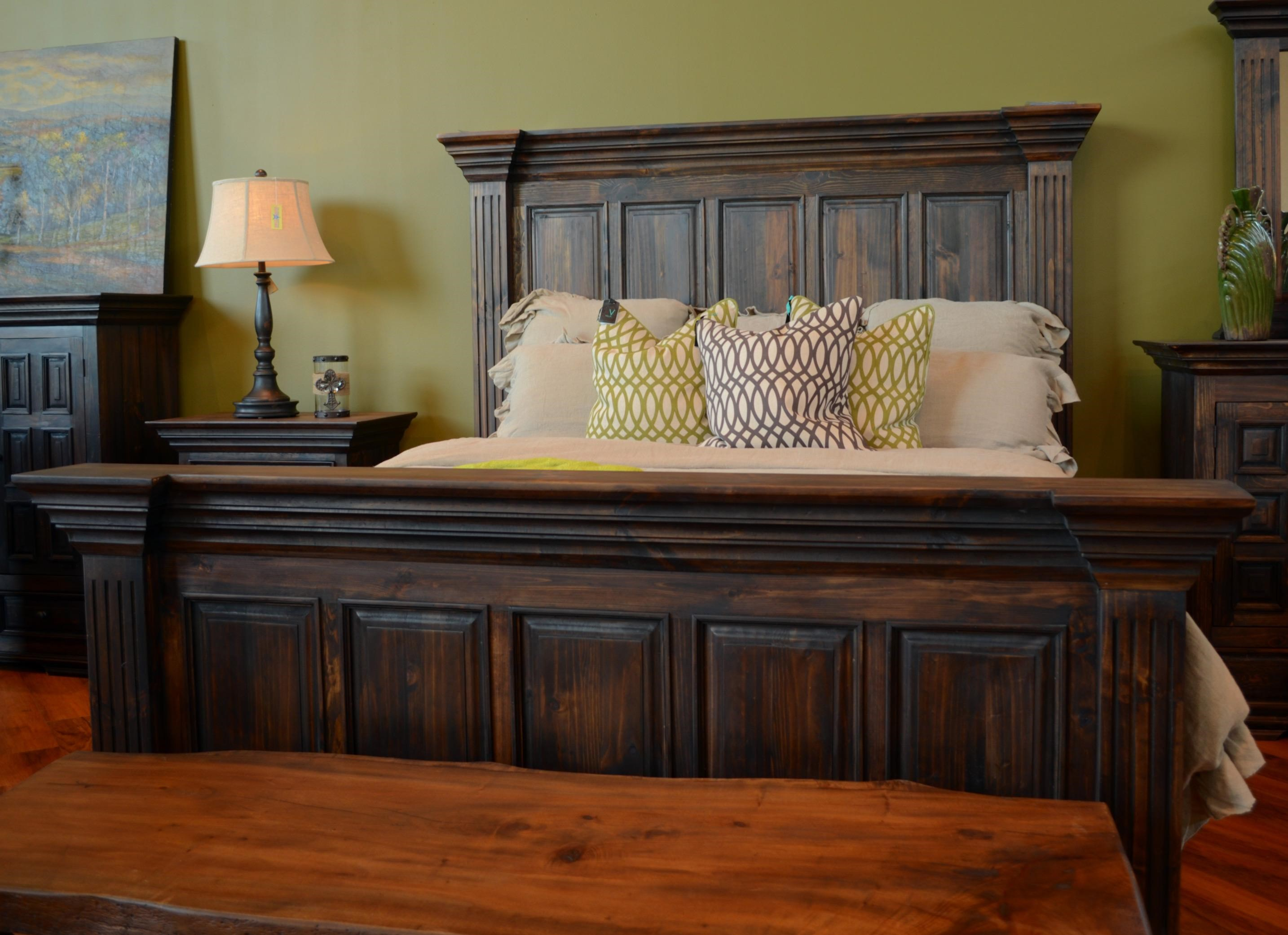 Vintage Wyoming King Panel Bed Great American Home Store