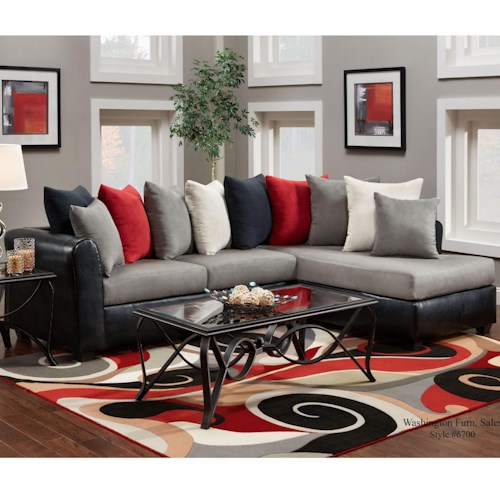 washington furniture 6700 sectional with rsf chaise del sol furniture sectional sofas