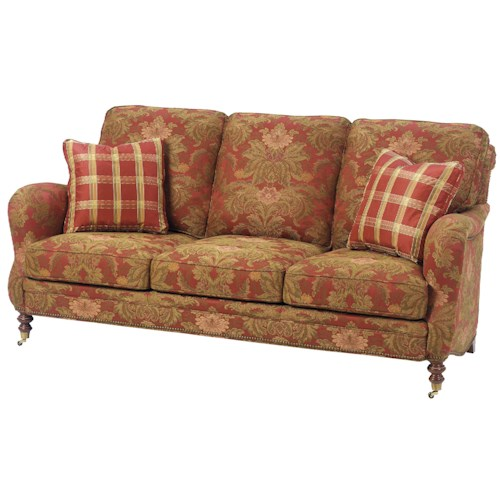 Wesley Hall 1472 Traditional Stationary Sofa Design