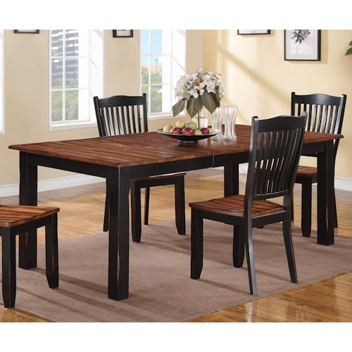 Winners only carson 84 leg table with distressed finish for Kitchen table only