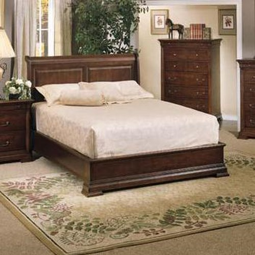 Winners Only Classic California King Sleigh Bed With Low Profile Footboard Dunk Bright