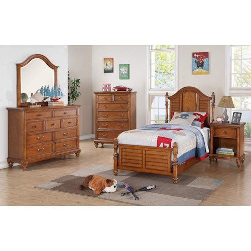 Winners Only Palm Beach Full Bedroom Group Dunk Bright Furniture Bedroom Groups
