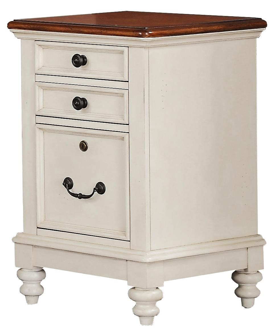 Palm Beach 3 Drawer File with Turned Feet Rotmans File