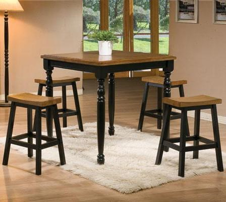 Winners Only Quails Run 5 Piece Square Tall Table And