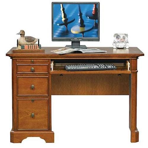 Winners Only Topaz 47 Writing Desk W Single Pedestal