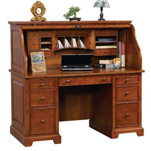 """Winners ly Topaz 57"""" Roll Top Desk Godby Home"""