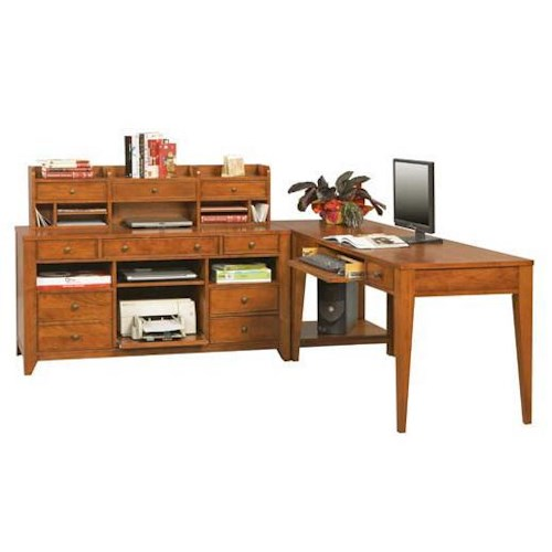 Winners only topaz 4 pc modular l shaped desk godby for L shaped modular homes