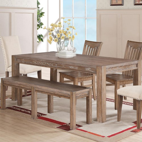 Winners only urbana leg table with 18 butterfly leaf for Table urbana but