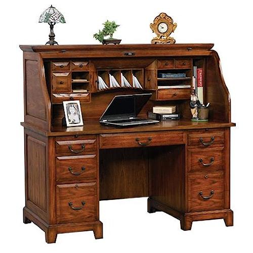 Winners Only Zahara Roll Top Desk Steger 39 S Furniture Roll Top Desks Peoria Pekin