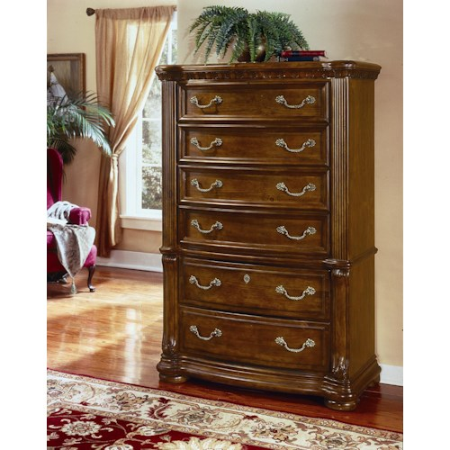 six drawer chest cordoba by flexsteel wynwood collection