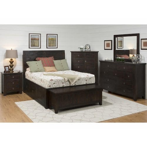 Jofran Kona Grove King Bedroom Group