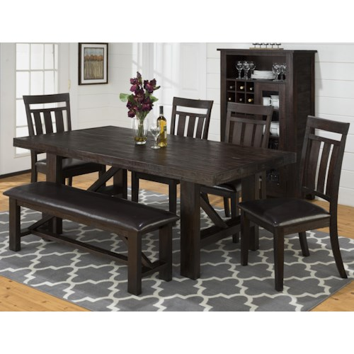 Jofran Kona Grove Formal Dining Room Group