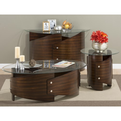 Jofran Waterville Walnut Occasional Table Group