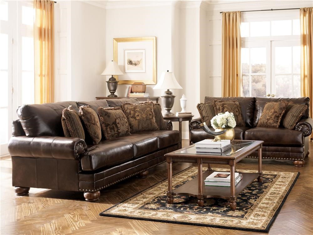 Ashley Furniture Paulie Living Room Set In Taupe Ashley Furniture Durablend Antique Sofa