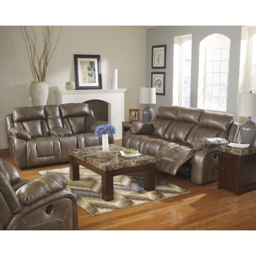 Ashley Furniture Loral Sable Reclining Living Room Group Regency Furniture Reclining