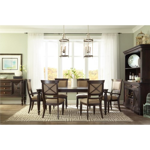 Broyhill furniture jessa formal dining room group baer 39 s for Broyhill dining room