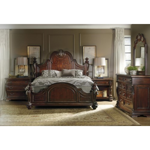 Hooker Furniture Grand Palais Queen Bedroom Group Gardiner Wolf Furniture Bedroom Group
