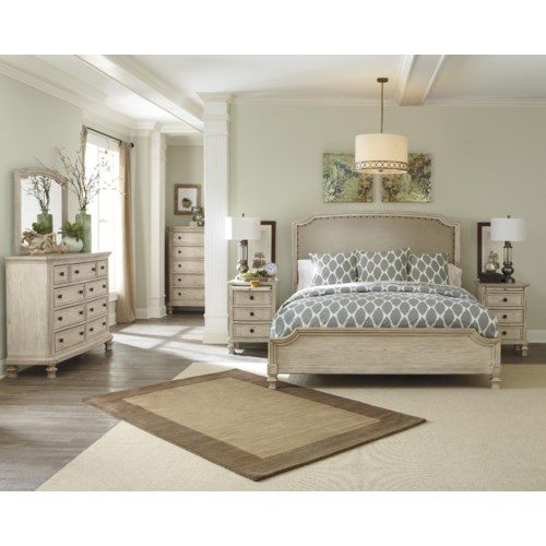 Signature design by ashley demarlos queen bedroom group beck 39 s furniture bedroom group for Bedroom furniture in sacramento