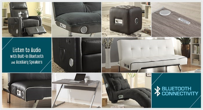 Scott Living Furniture With Bluetooth Technology
