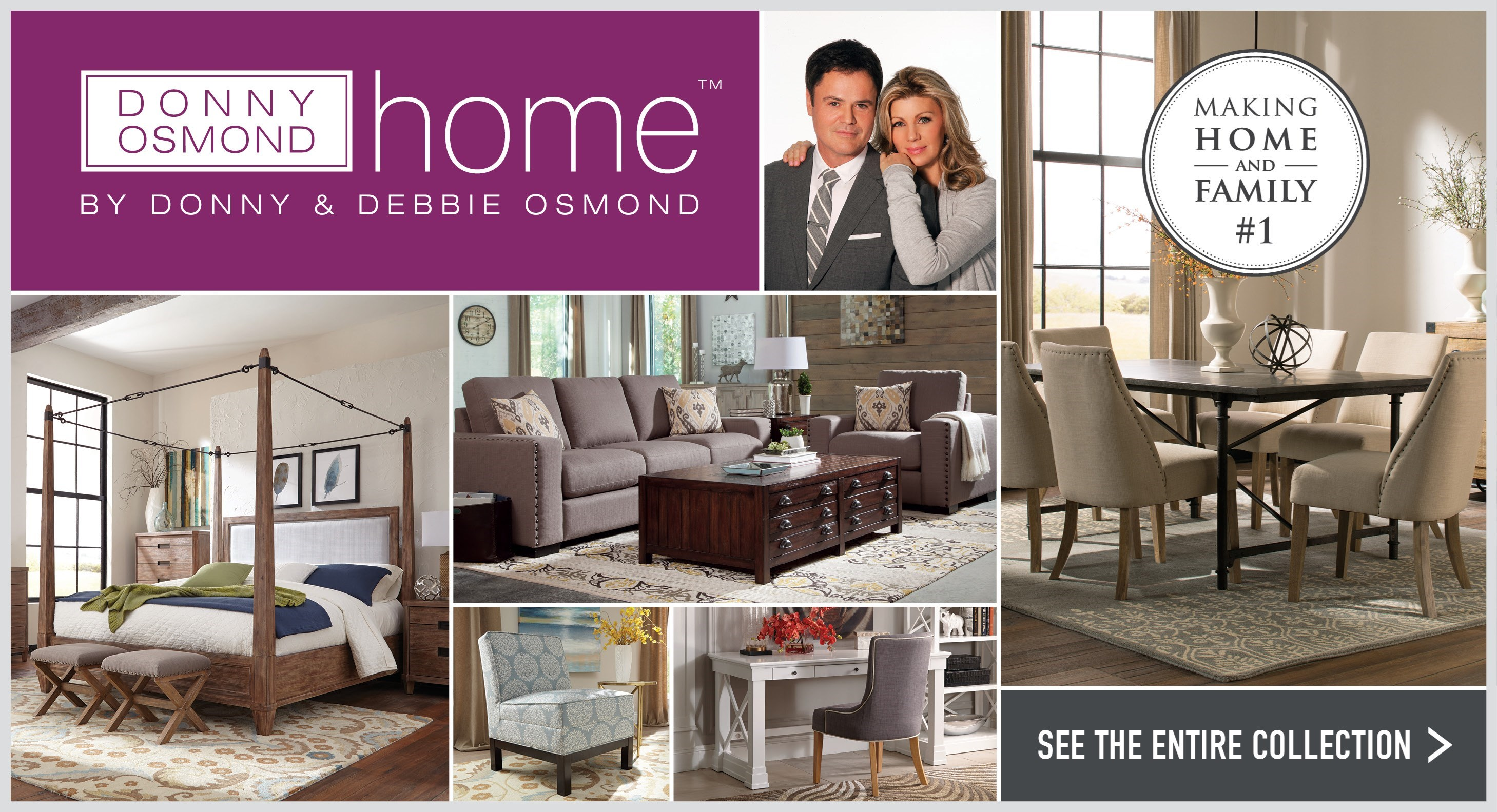 New 2016 Donny Osmond Home Collection Furniture ...