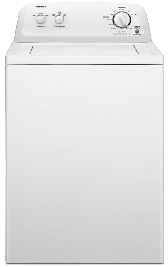 admiral washers and dryers 35 cu ft topload washer
