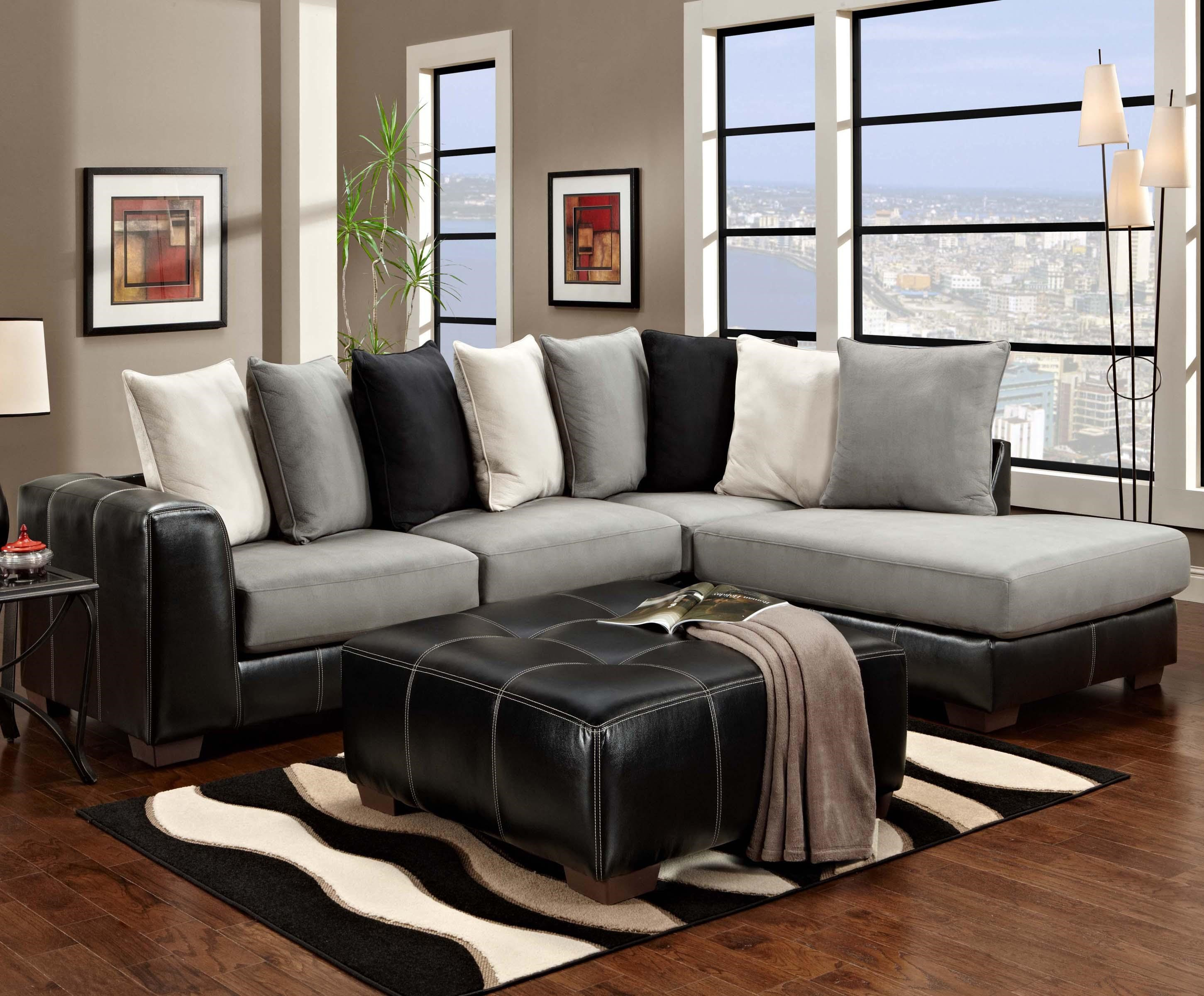 Affordable Furniture 6350 Two Piece Sectional With Chaise Ivan Smith Furniture Sofa Sectional