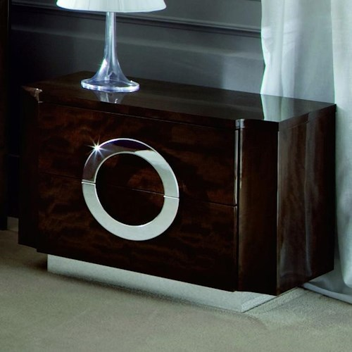 Alf Uno Spa Torino Small Italian Night Stand with Two Drawers ...