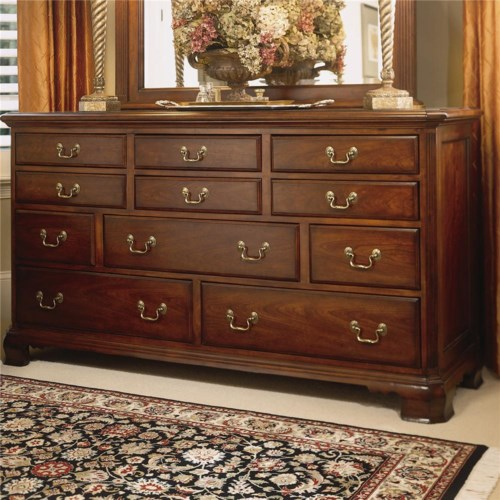American Drew Cherry Grove 45th Triple Dresser with 11 Drawers