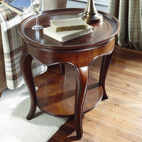 American Drew Cherry Grove Oval End Table with Wood Top