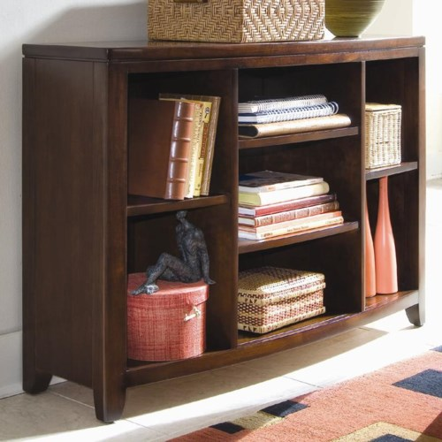 American Drew Tribecca Bookcase Console with 4 Adjustable Shelves