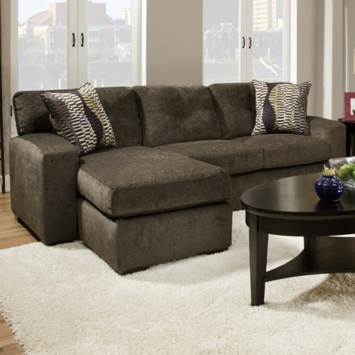 American Furniture 5100 Group Small Sectional Sofa with  Chaise Ottoman