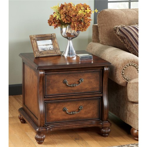 Signature Design by Ashley Shelton Traditional Rectangular End Table