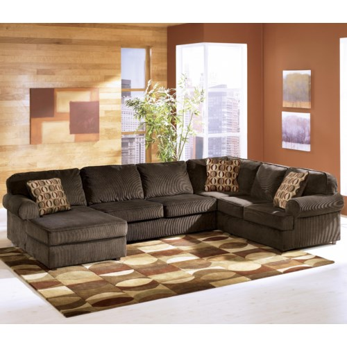 Ashley Discount Furniture Store: Chocolate Casual 3-Piece