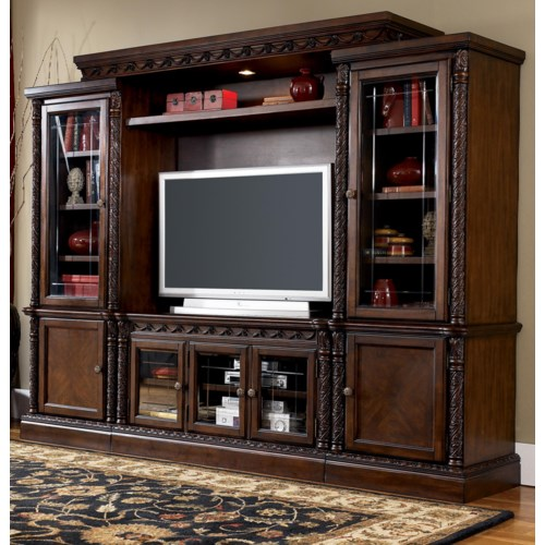 Millennium By Ashley North Shore Entertainment Wall