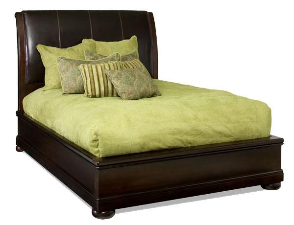 upholstered leather sleigh bed. Bernhardt Belmont Queen-Size Leather Upholstered Platform Sleigh Bed R