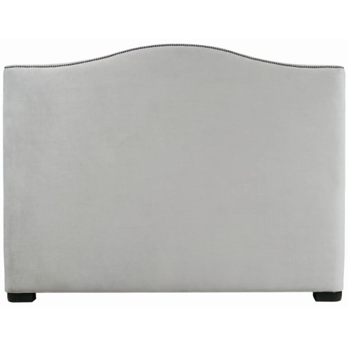 Bernhardt Interiors - Beds California King-Size Graham Upholstered Camelback Headboard