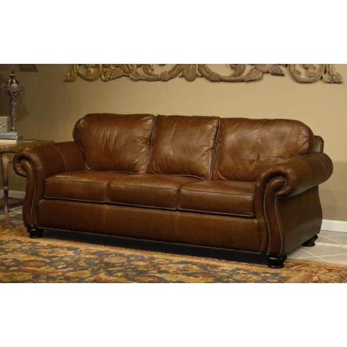 Bernhardt Vincent Leather Sofa