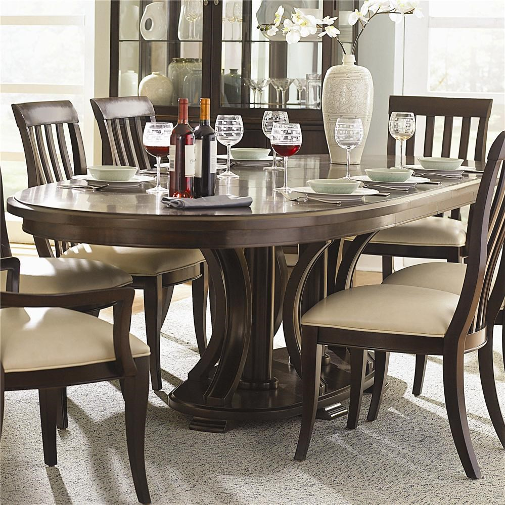 Bernhardt Furniture Dining Room On Bernhardt Westwood Oval Double Pedestal Dining Table With Leaves