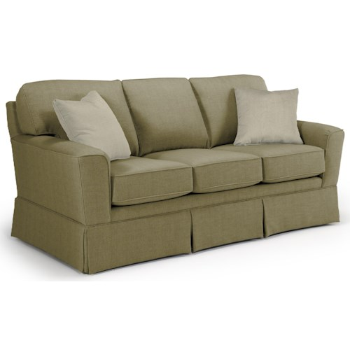 Best Home Furnishings Annabel  Customizable Transitional Sofa with Beveled Arms and Skirted Base