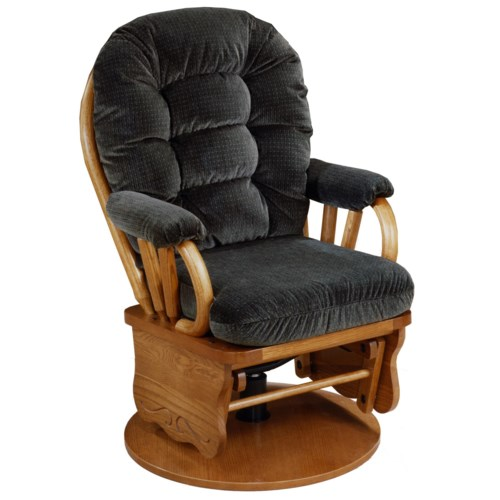 Best Home Furnishings Glide Rocker and Ottomans Bedazzle Swivel Glide Rocking Chair