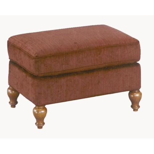 Best Home Furnishings Ottomans Rectangular Ottoman with Turned Feet