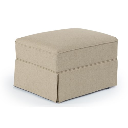 Best Home Furnishings Ottomans Traditional Glide Ottoman with Skirt Base