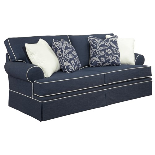 Broyhill Furniture Emily Queen Air Dream Sleeper Sofa