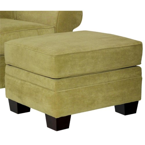 Broyhill Furniture Choices Upholstery Ottoman with Wedge Feet